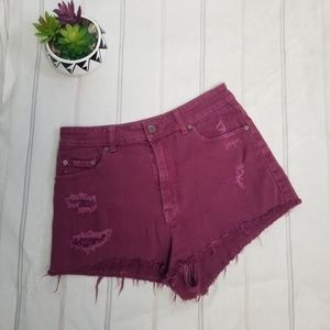 Urban Outfitters BDG red raw hem short size 31 -C9